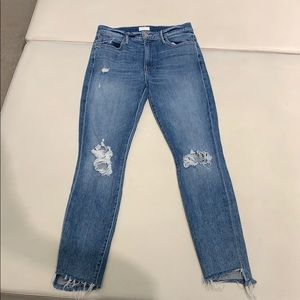 Mother jeans size 27 the stunner ankle step fray